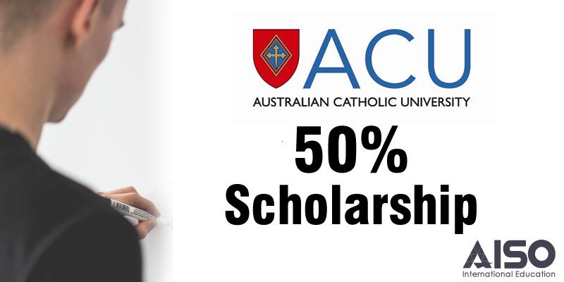 50% Scholarship at Australian Catholic University