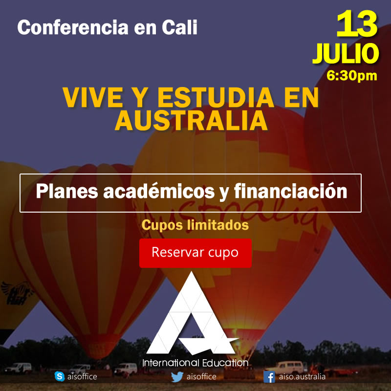 Charla informativa en Cali: Planes académicos y financiación para estudiar en Australia