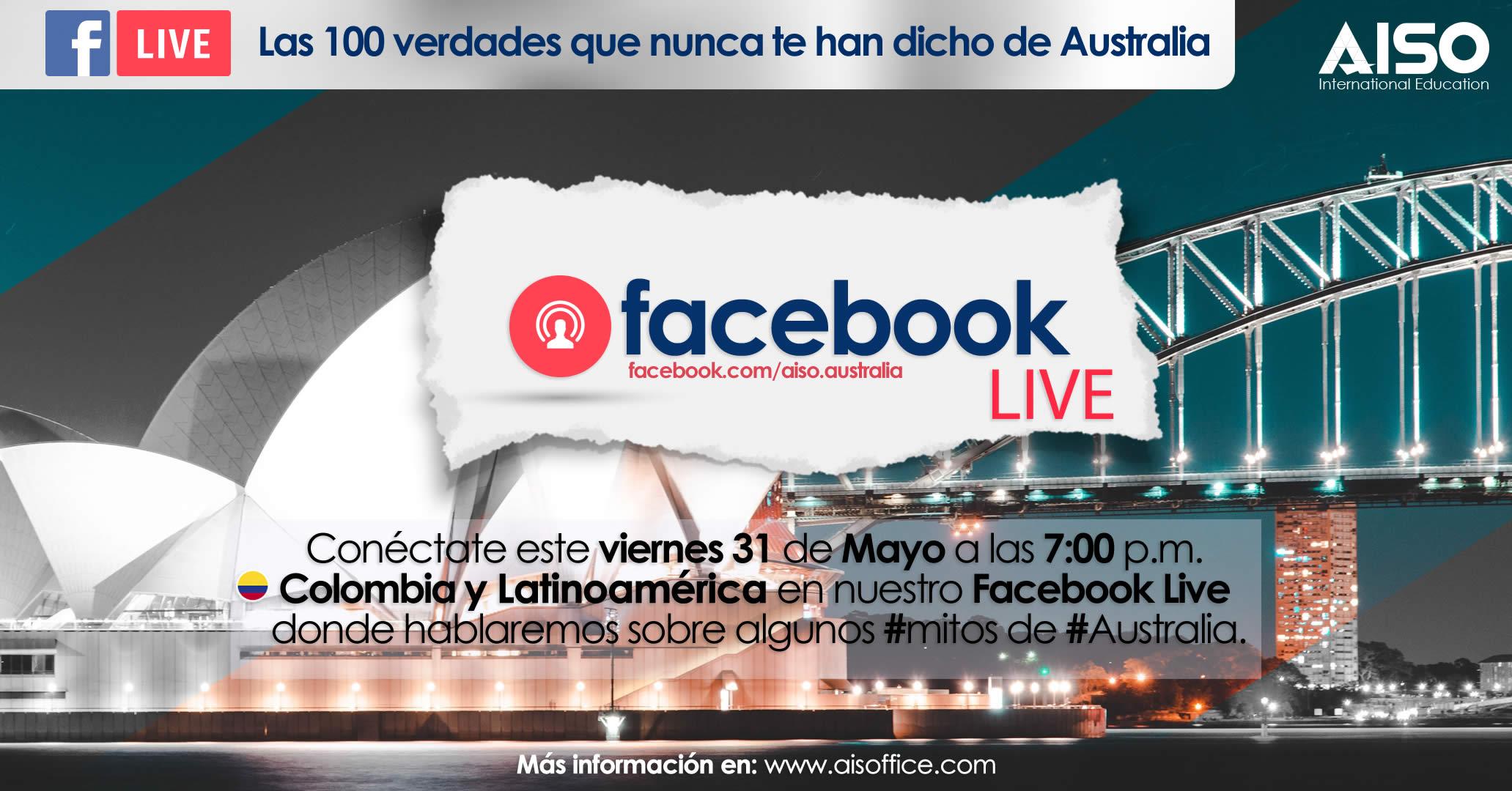 FaceBook Live 100 verdades sobre Australia