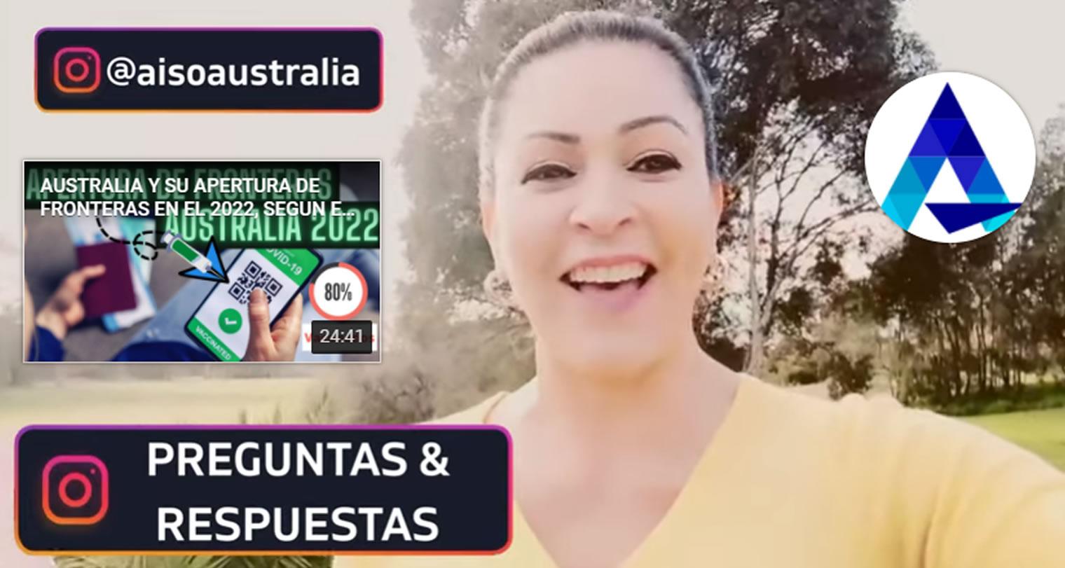 PATRICIA ISAZA INSTAGRAM LIVE AISO AUSTRALIA