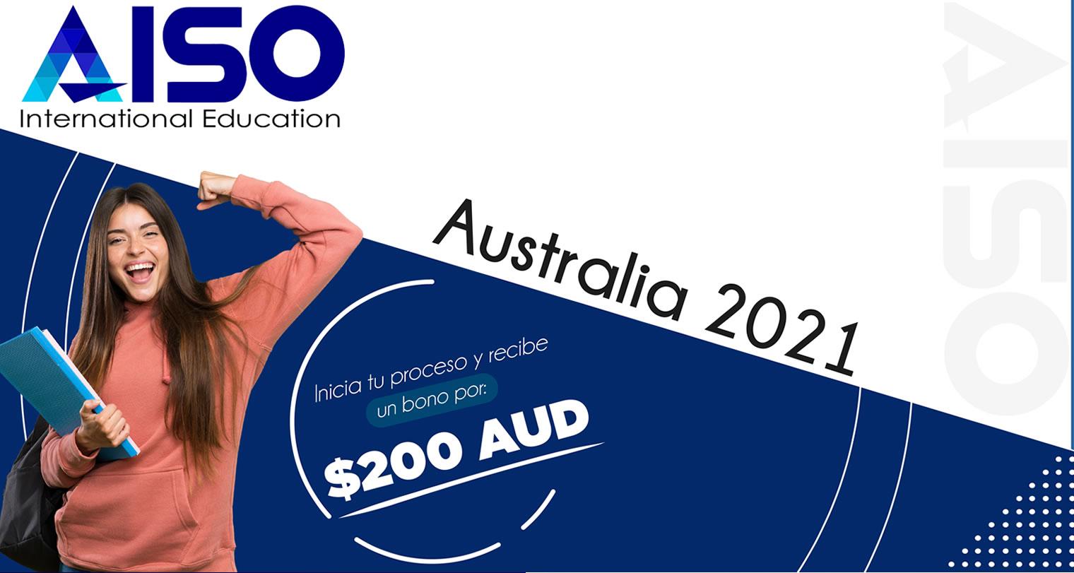 Bono $200 AUD para tu proceso de visa con AISO